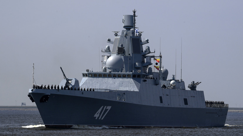 Фрегат «Адмирал Горшков»включили в состав Военно-морского флота России