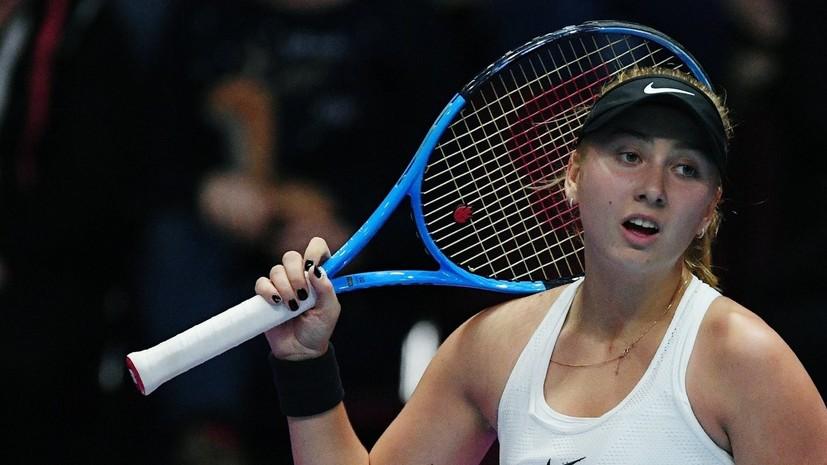Россиянка Потапова победила Зиданшек и вышла в финал турнира WTA в Москве