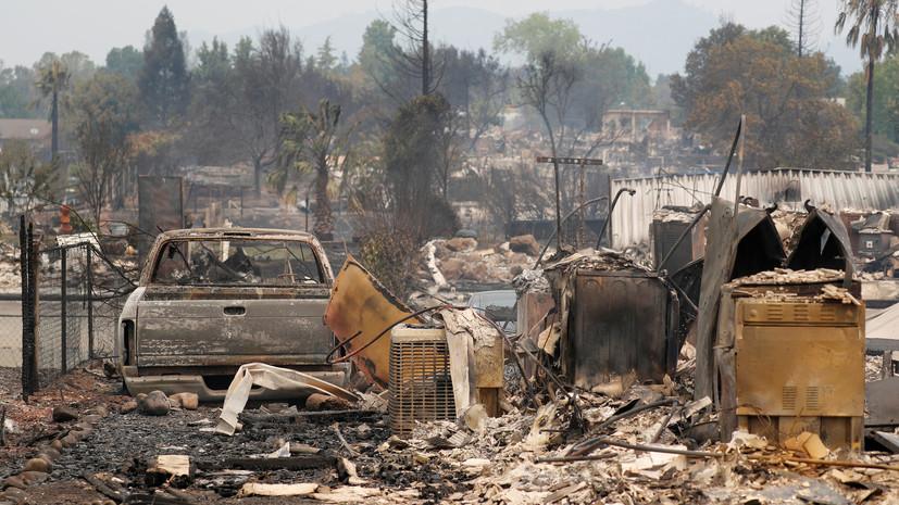 Практически  40 тыс.  человек эвакуированы вКалифорнии из-за крупного лесного пожара
