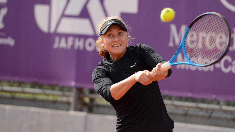 Потапова проиграла Данилович в финале турнира WTA в Москве