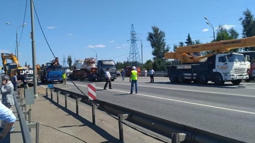 На Ярославском шоссе полностью восстановлено движение после обрушения моста