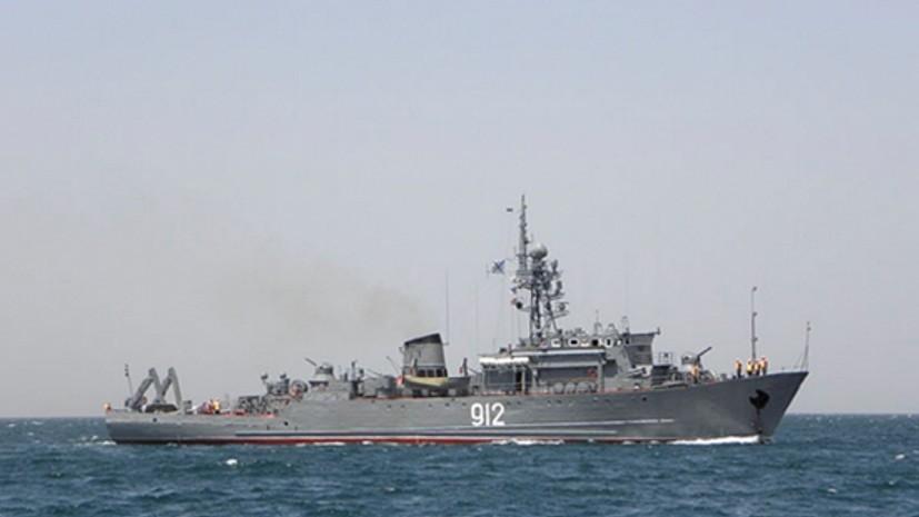 Морской тральщик ЧФ провёл противоминные учения в Средиземном море