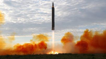 Пуск северокорейской баллистической ракеты «Хвансон-12», 12 сентября 2017 года