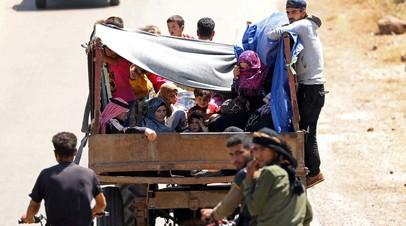 Более пяти тысяч мирных жителей выведены за сутки из южной зоны деэскалации в Сирии