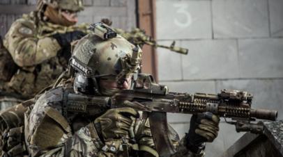 Испытания новейшего стрелкового оружия «Калашникова»