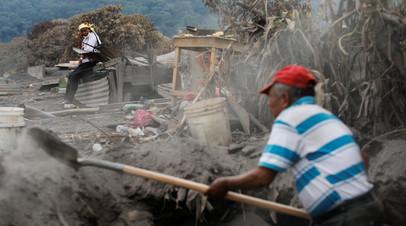 Число пропавших без вести после извержения вулкана в Гватемале достигло 332 человек