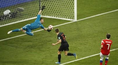 Сборная Хорватии сравняла счёт в матче четвертьфинала ЧМ-2018 с Россией
