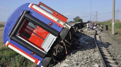 В Минтрансе Турции назвали причину аварии на железной дороге