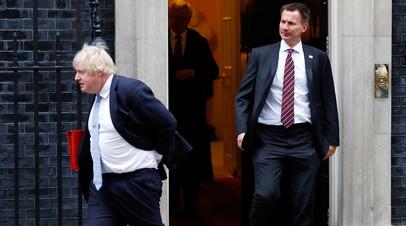 Бывший и нынешний главы МИД Великобритании — Борис Джонсон и Джереми Хант