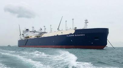 СПГ-танкер ледового класса Arc7 «Владимир Русанов»