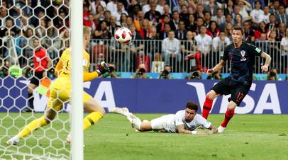 Сборные Хорватии и Англии сыграют дополнительные таймы в полуфинальном матче ЧМ-2018 по футболу