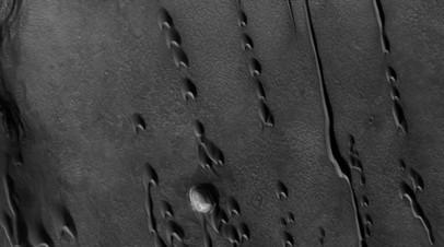 «Призрачные дюны» на Марсе