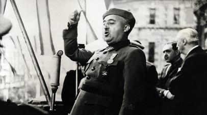 Франсиско Франко, 1939 год