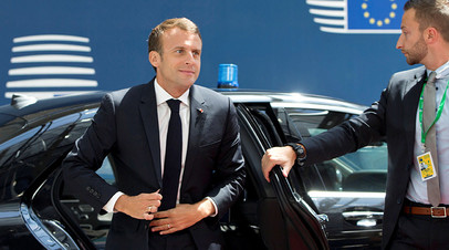 Президент Франции Эмманюэль Макрон © POOL New