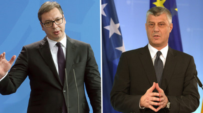 Александр Вучич и Хашим Тачи