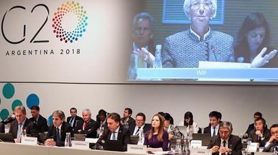 В пресс-центре G20