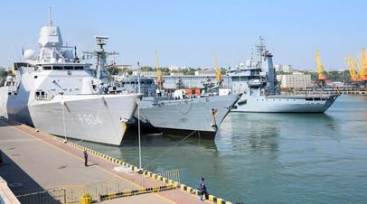 Прибывшие в Одессу корабли НАТО