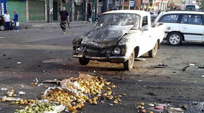 Рынок в Эс-Сувейде после взрыва