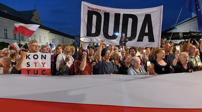 Протесты в Польше © JANEK SKARZYNSKI