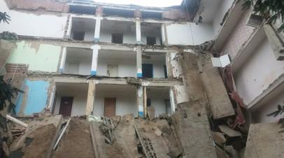 На Украине произошло обрушение здания студенческого общежития