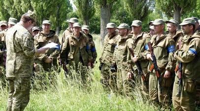 Учение бойцов территориальной обороны