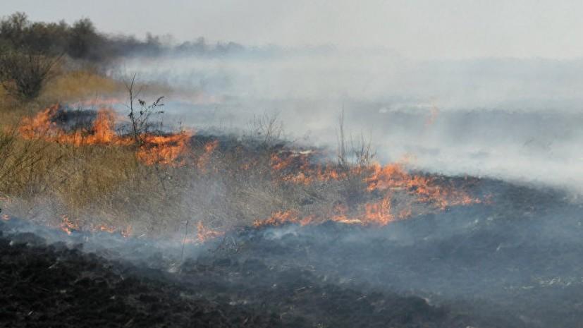 В одном из городских округов Оренбургской области ввели режим ЧС из-за возгорания в степи