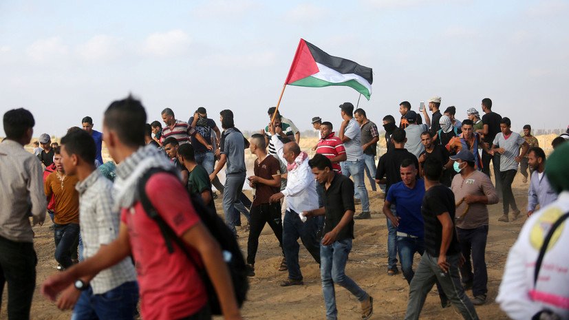 Более 200 палестинцев получили ранения в ходе беспорядков на границе сектора Газа