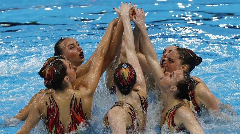 Российские синхронистки завоевали золото ЧЕ в произвольной программе