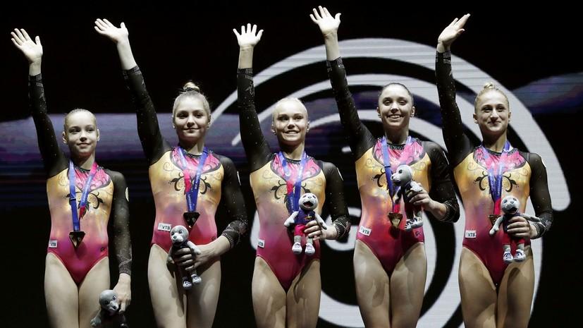 Российские гимнастки победили в командных соревнованиях на чемпионате Европы