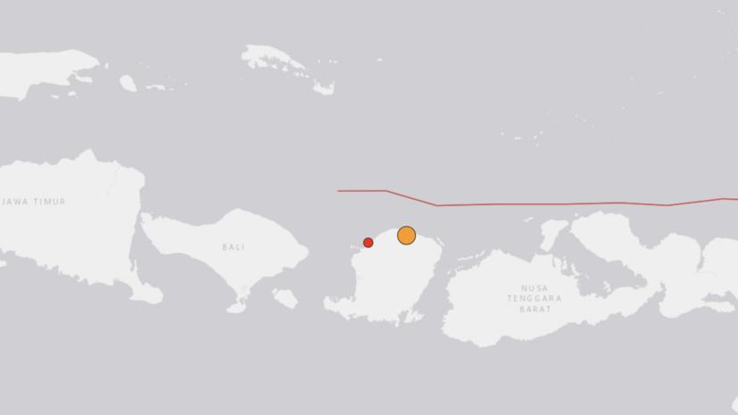 На острове Ломбок в Индонезии произошло землетрясение магнитудой 7