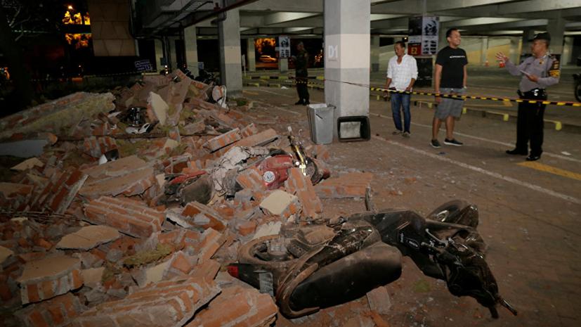 Ростуризм выясняет подробности о пострадавших при землетрясении в Индонезии