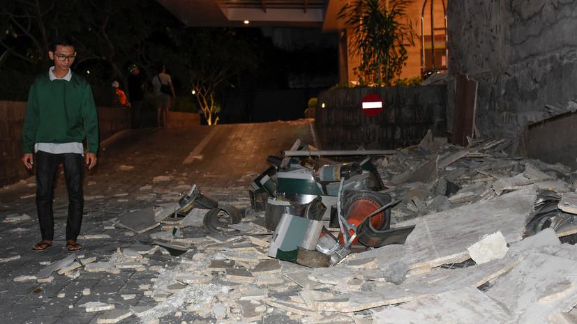 В Индонезии 19 человек погибли при землетрясении на острове Ломбок