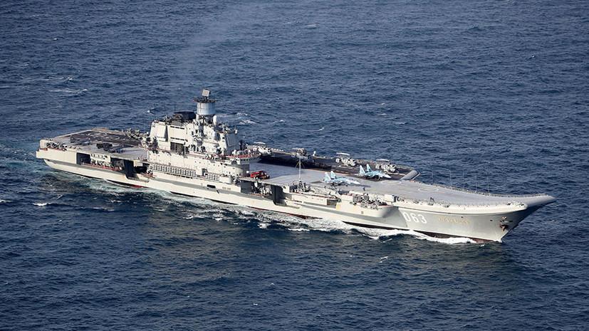 После модернизации палуба «Адмирала Кузнецова» будет приспособлена для приёма истребителей