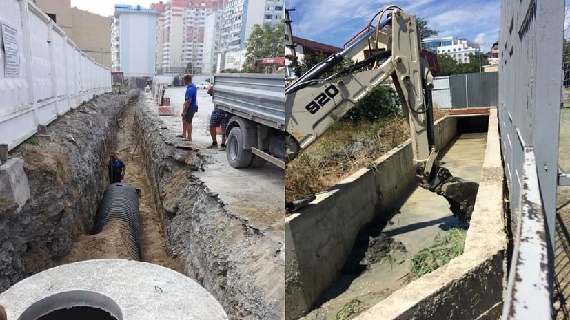 В Новороссийске проверяют ливневые канавы после трагедии в Сочи