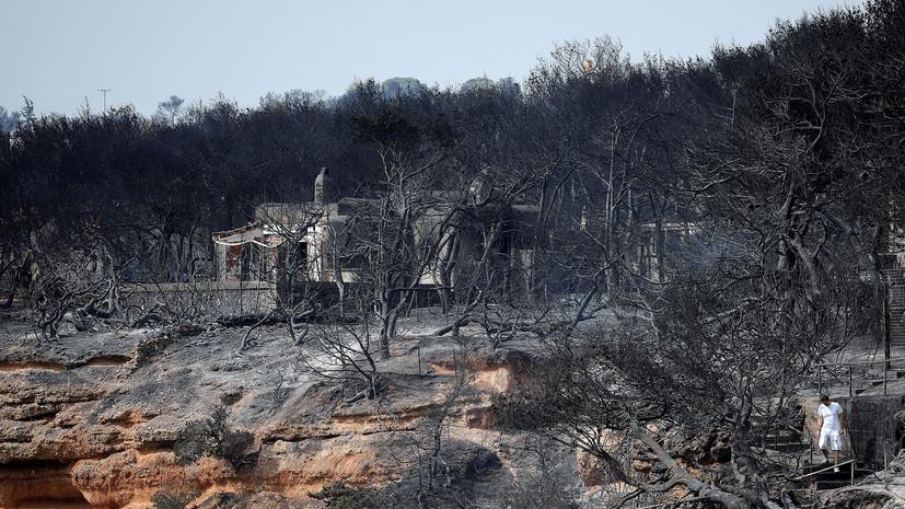 Премьер Греции пообещал тщательное расследование причин природных пожаров в стране