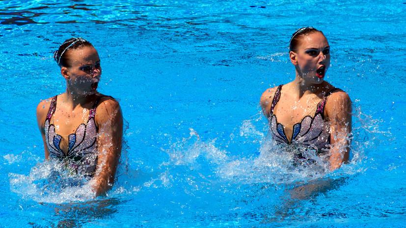 Сборная России заняла первое место в медальном зачёте на ЧЕ по синхронному плаванию в Глазго