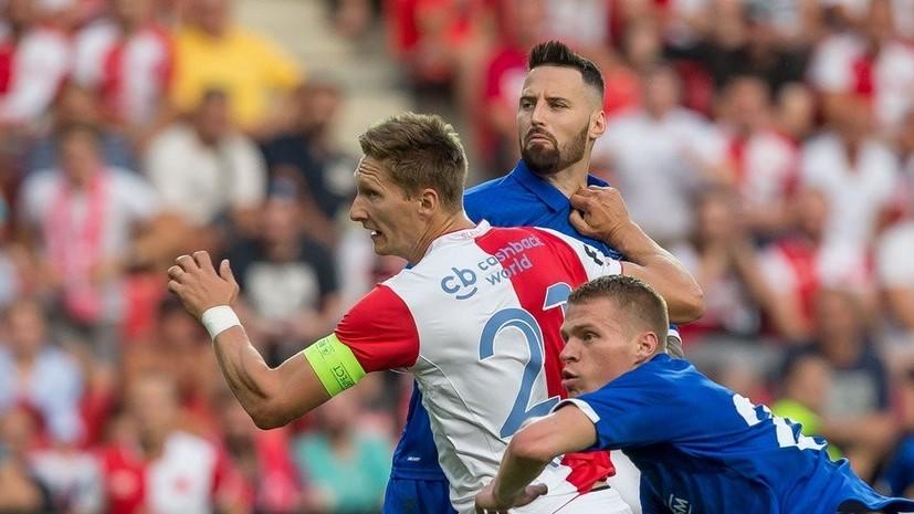 Киевское «Динамо» упустило победу над «Славией» вквалификации футбольной Лиги чемпионов