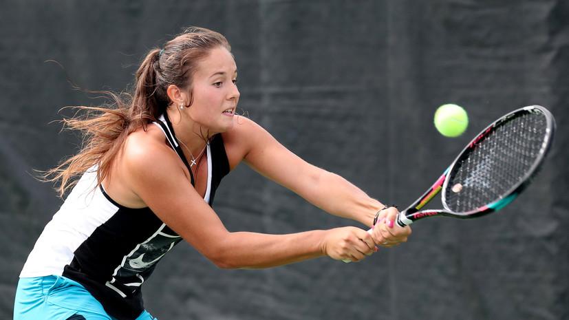 Касаткина сыграет с Шараповой во втором круге теннисного турнира в Монреале
