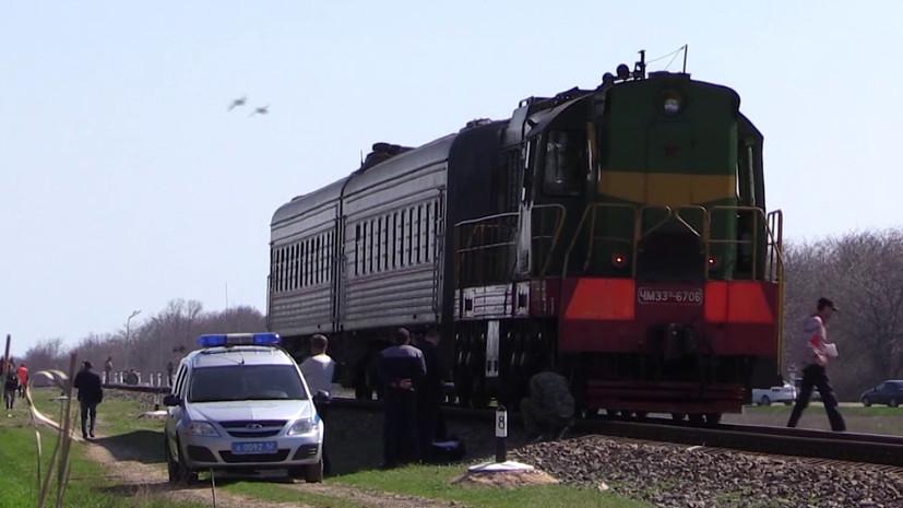 В Дагестане при столкновении поезда и автомобиля погибли три человека