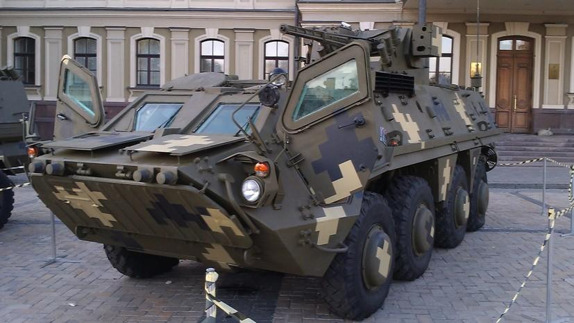 Порошенко объявил о начале сборки первого украинского экспериментального корпуса БТР-4