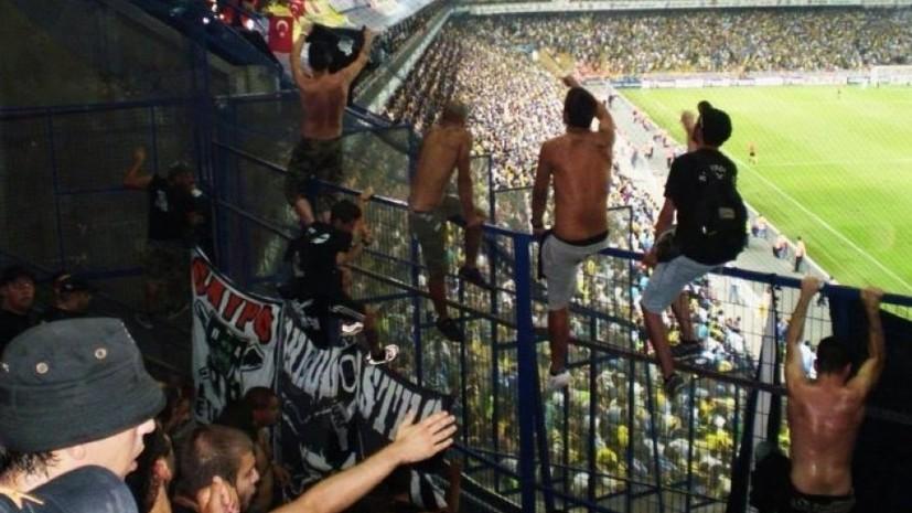 Фанаты ПАОК напали на российских журналистов перед матчем со «Спартаком»