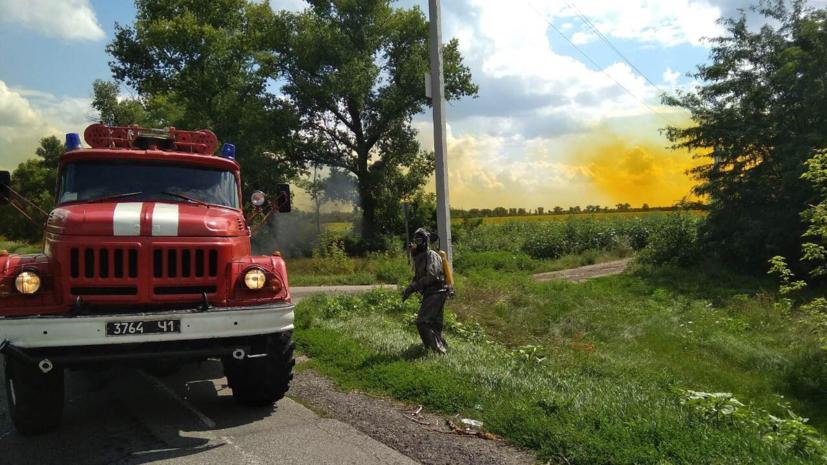 Разлившуюся на трассе в Днепропетровской области азотную кислоту перевозили нелегально