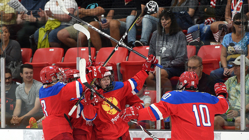 Юниорская сборная России по хоккею разгромила США на Кубке Глинки