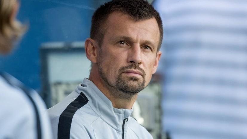 Семак рассказал почему заменил Дриусси и Ригони после первого тайма матча ЛЕ с «Динамо»