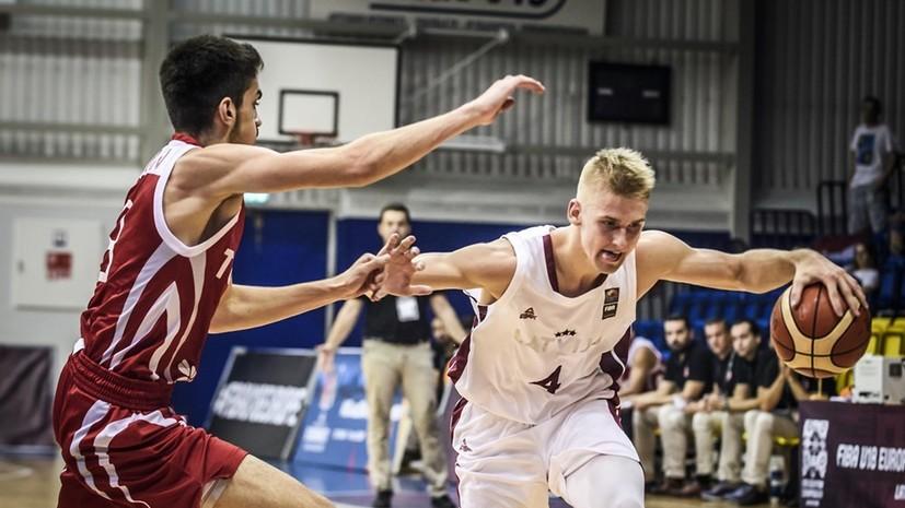 Атакующий защитник юниорской сборной Латвии по баскетболу Давид Виксне серьёзно