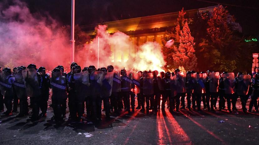Более 400 человек пострадали в ходе протестов в Румынии