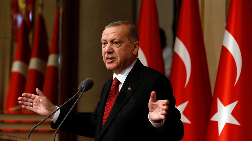 Эрдоган: «падение лиры— результат иностранного заговора»