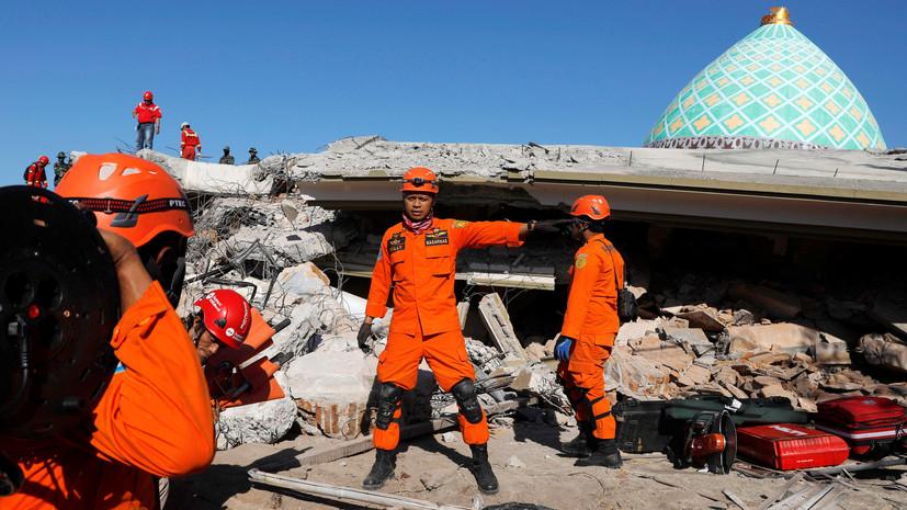 Число погибших в результате землетрясения в Индонезии возросло до 387