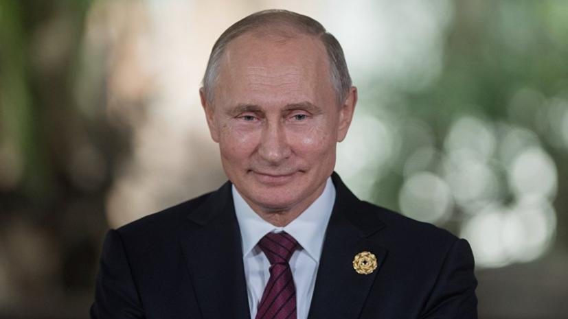 Путин поздравил россиян с Днём физкультурника