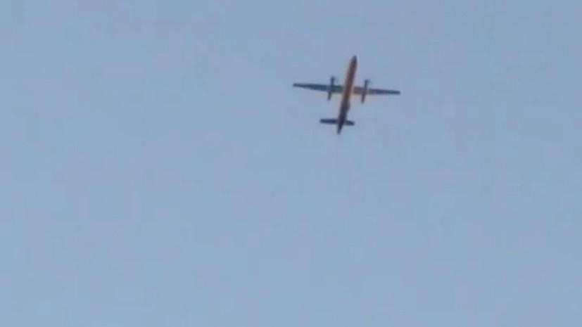 Очевидцы опубликовали кадры преследования угнанного в Сиэтле самолёта истребителями